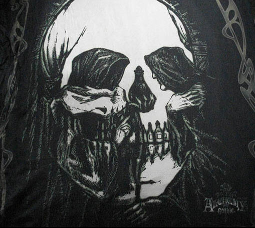 illusion skull optical illusions tree skulls