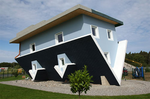 Upside Down House Open To The Public Optical Illusion