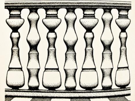 Rubin Vase Efect Optical Illusion